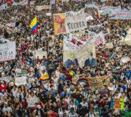 Séptima protesta estudiantil contra el gobierno de Duque