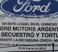 Condenan a exdirectivos de Ford por lesa humanidad