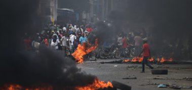 Haití vive su noveno día de protestas y paralización