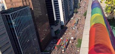 Imponente mensaje de la comunidad LGBT+ en Brasil