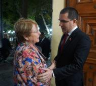 Michelle Bachelet inició su visita a Venezuela