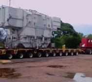 Venezuela: transformador en viaje a la central del Guri
