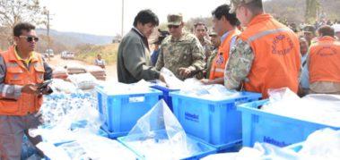Evo Morales anuncia que disminuye el foco de incendio