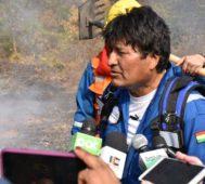 Evo: combatir el fuego «sin importar costo ni esfuerzo»