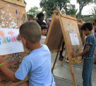 «No Más Trump», pintaron niñas y niños en Venezuela