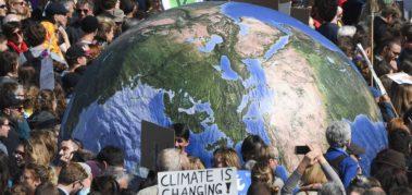 Multitudinaria movilización ante el calentamiento global