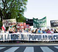 Izquierda argentina marchó en apoyo al pueblo chileno