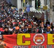 Central Obrera y mineros emplazan a los golpistas