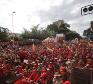 Otra marcha multitudinaria del chavismo en Venezuela
