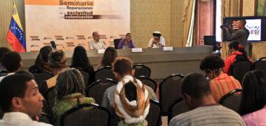 Seminario sobre Reparaciones de la Esclavitud en Venezuela
