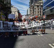 Movilización en Buenos Aires contra la megaminería