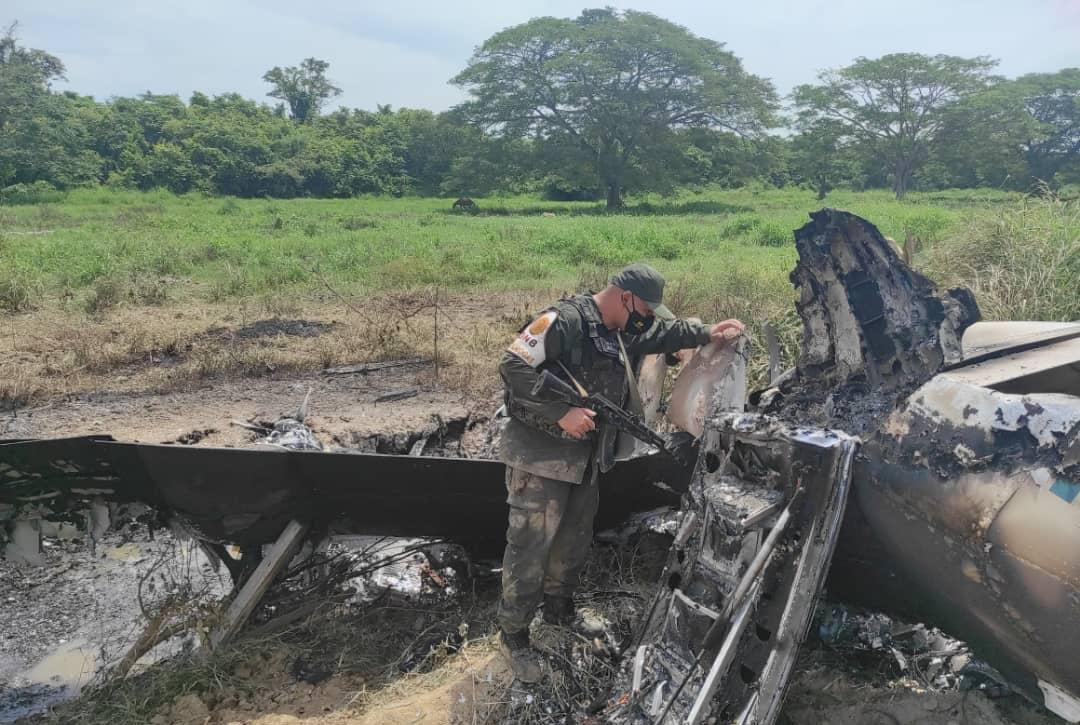 Venezuela neutralizó un avión con matrícula estadounidense