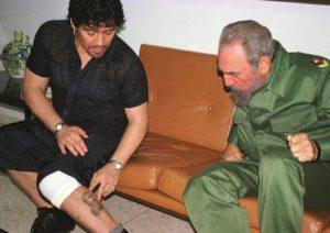 Maradona con Fidel