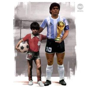Maradona con la copa