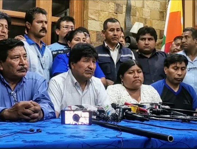 Evo Morales presidente del Movimiento Al Socialismo