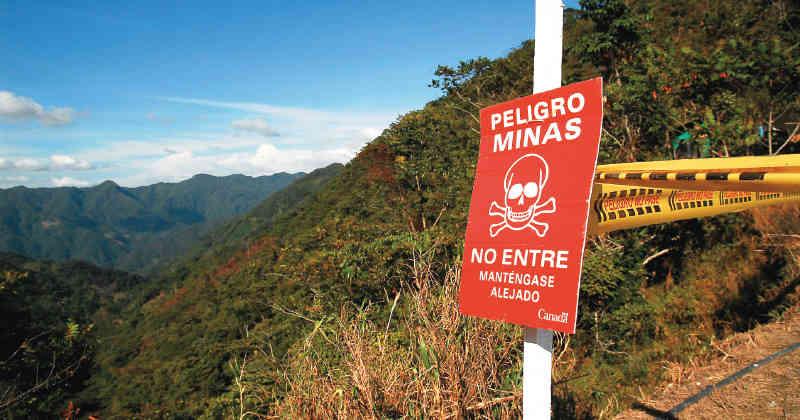 En 2026 Colombia deberá ser libre de minas antipersonal
