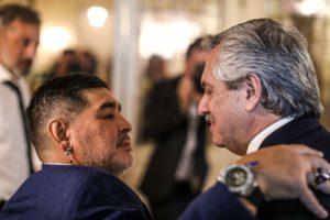 Diego Maradona con Alberto Fernandez