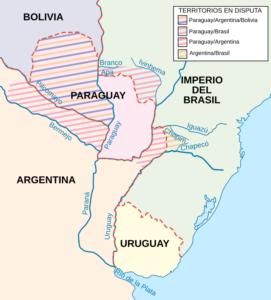Mapa de la Tiple Alianza