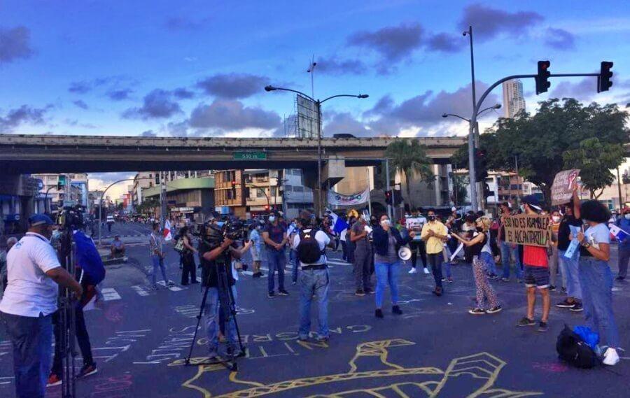 Realizan nuevas jornadas de protesta en Panamá