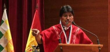 Evo Morales: «que se respete el resultado en Perú»