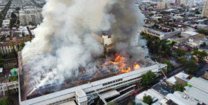 Incendio  en un hospital de chile