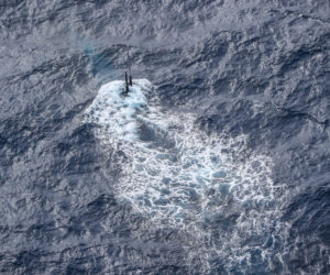 Submarino de Estados Unidos opera en el Atlántico Sur con apoyo británico