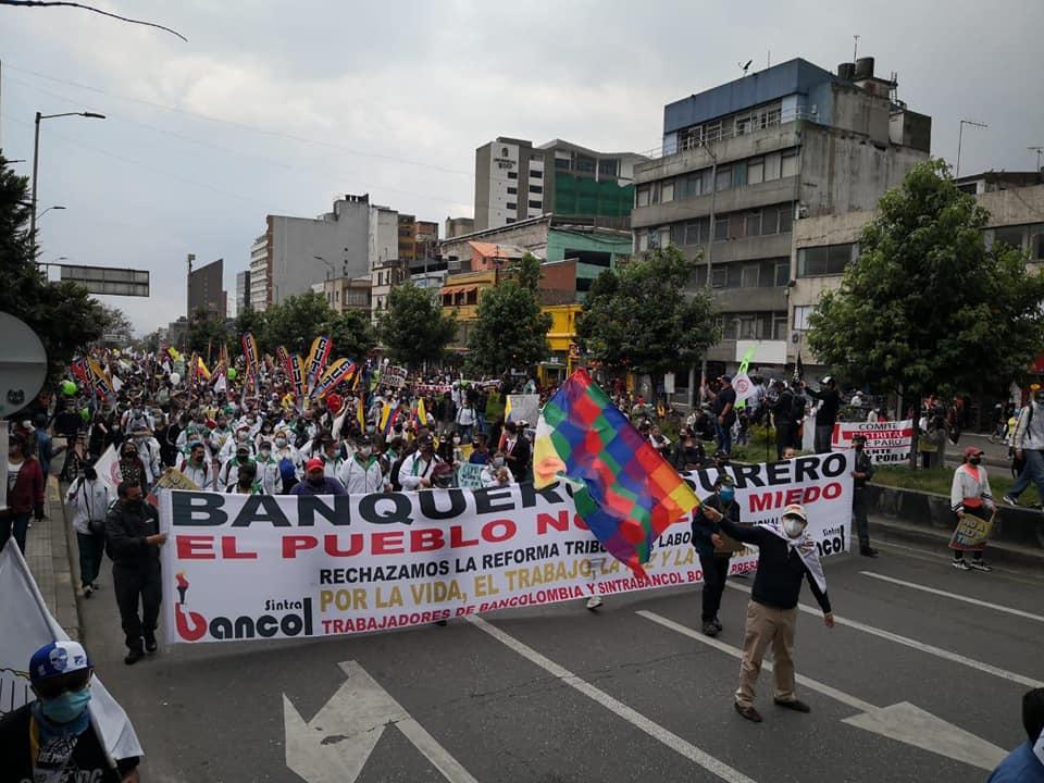 Este jueves continúa el paro nacional en Colombia