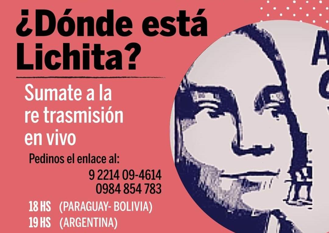 Este viernes 30, debate virtual ¿Dónde está Lichita?