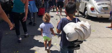 Aumenta el número de niños migrantes en México