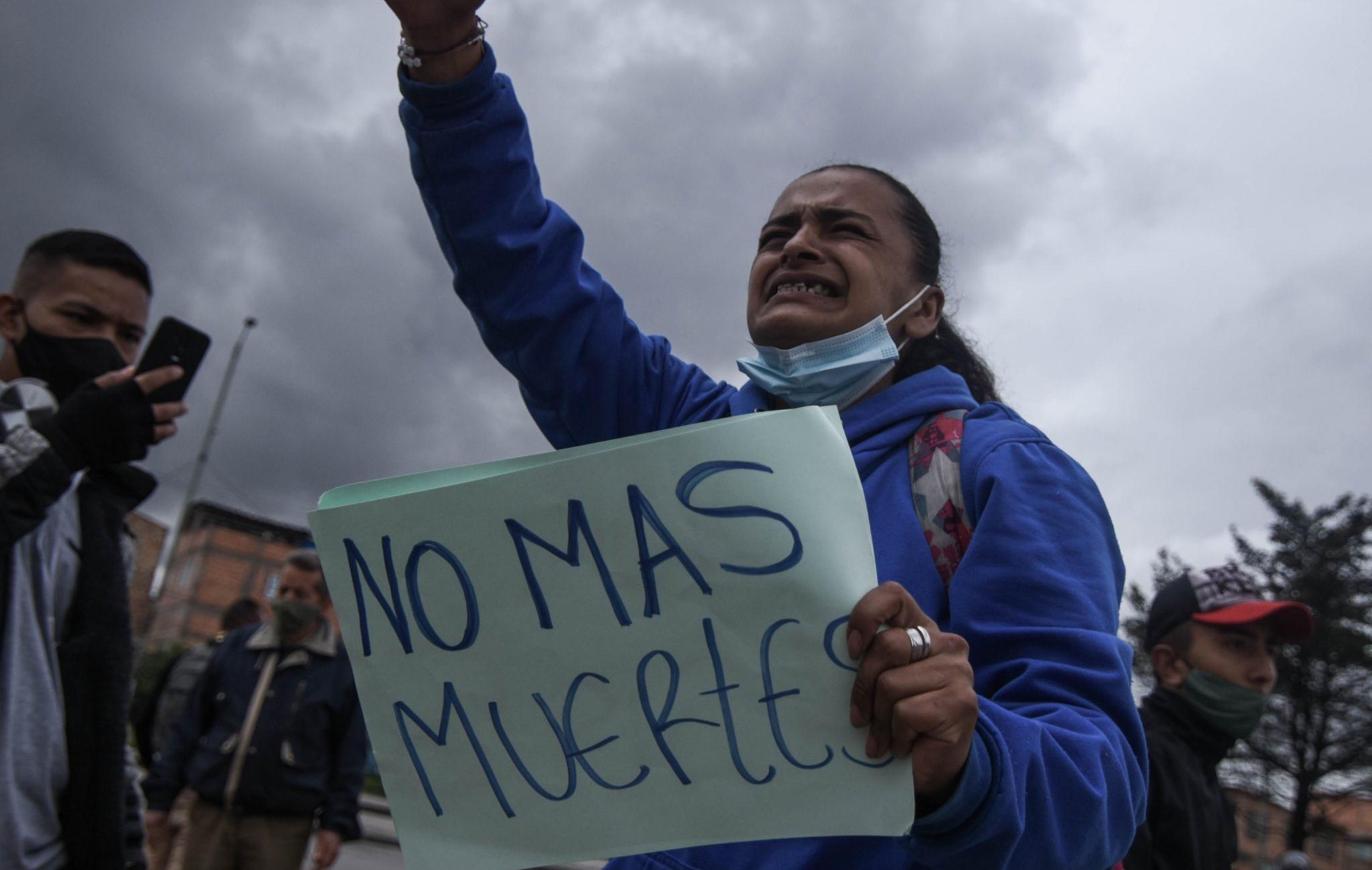 Dos muertos en 48 horas por la represión en Bogotá