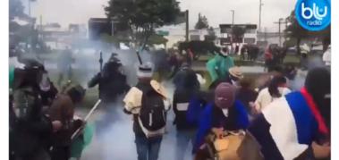Movilización y represión en la «toma de Bogotá»
