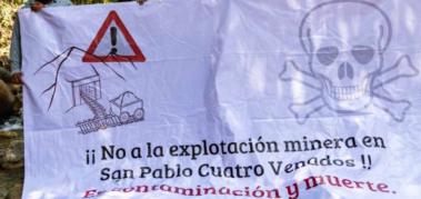 Denuncian intimidaciones por rechazar proyectos mineros
