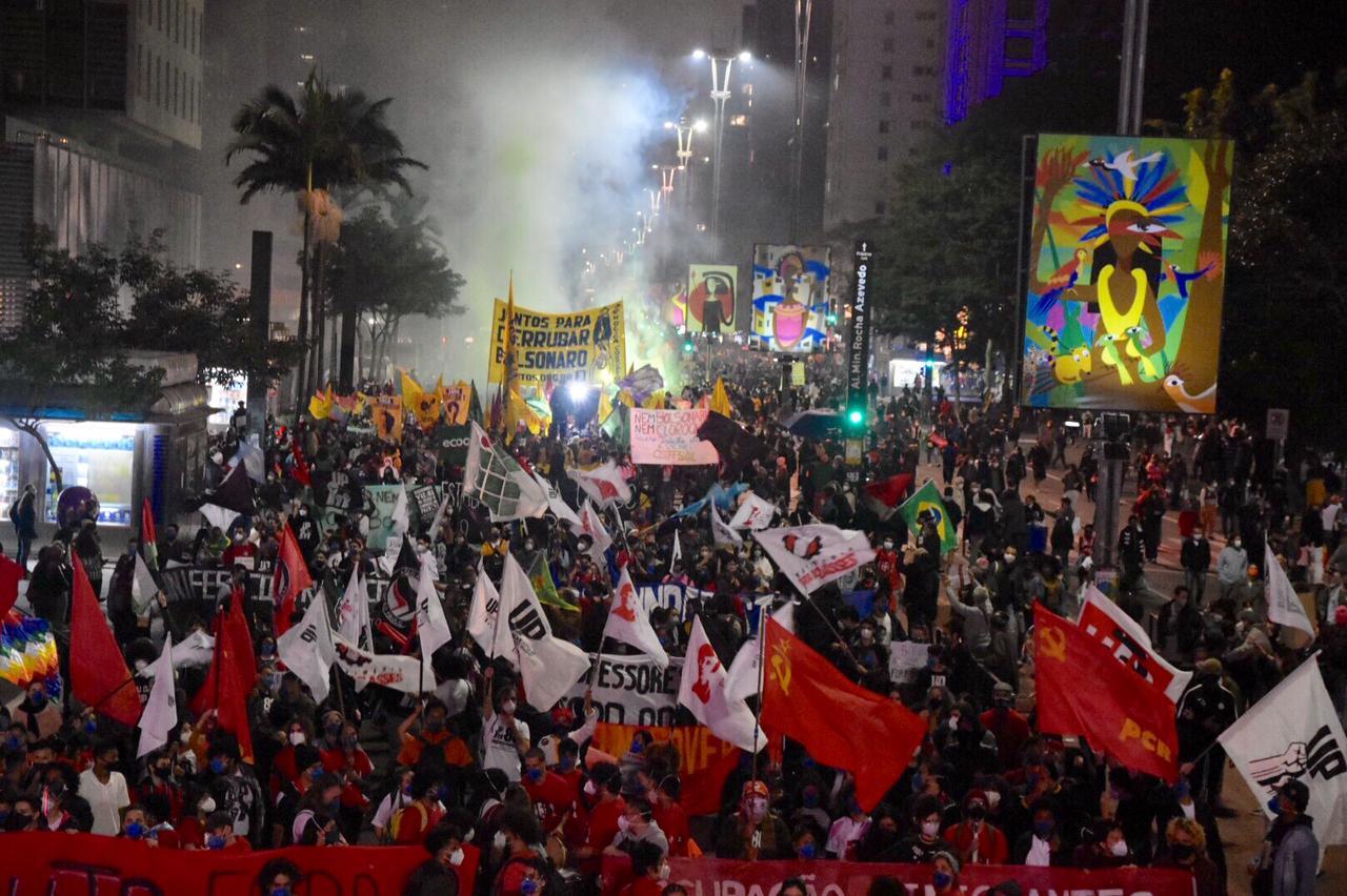 Brasil vivió otra jornada de marchas contra Bolsonaro