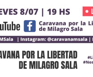 Caravana feminista pide la libertad de Milagro Sala