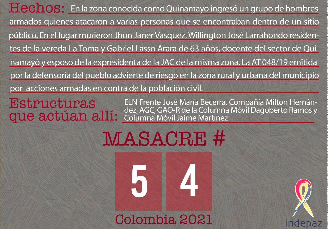 Asesinan a un líder social y a su familia en Colombia