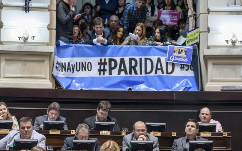 Argentina aún no alcanza la paridad de género en política