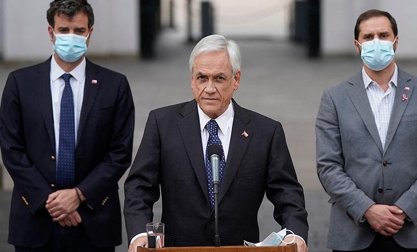 Piñera militariza las regiones del centro y sur de Chile