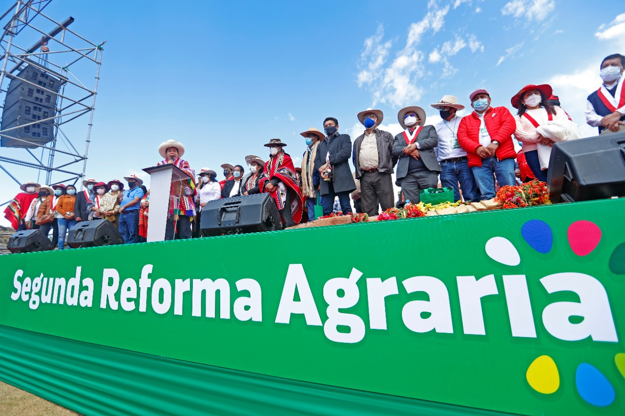 Pedro Castillo anunció la «segunda reforma agraria»